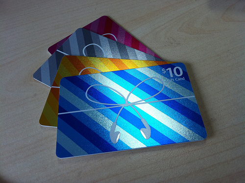 Here's a great image of some Apple gift cards. Now how do you make this gift personal?