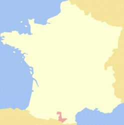 Map location of the old county of Foix