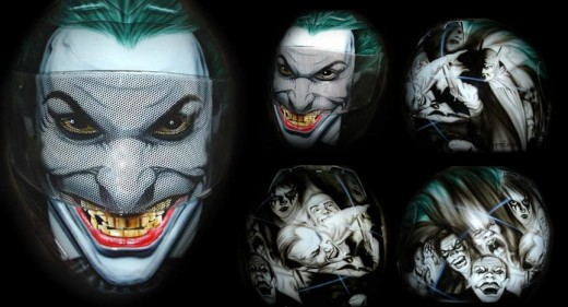 This is my favorite helmet. So much detail in the face of the joker. Plus, he looks mean as hell.