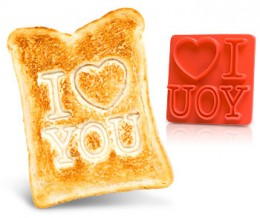 I Love You Bread toasts