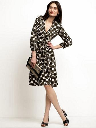 Wrap dresses flatter slender figures by creating the illusion of curves