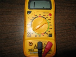 A Common Muti Tester With Ohms Tester