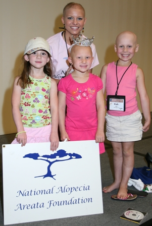Kayla Martell(Miss Delaware, Miss American contender) with members of a local Alopecia Chapter. She is an amazing inspiration!