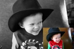 Change a color photo into black-and-white image.   Leah Lefler 2011