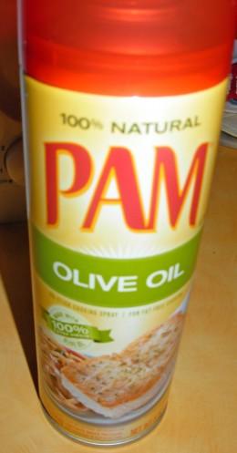 Ingredients - PAM Olive Oil cooking spray