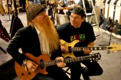 Bruce Conte (at right) with ZZ Top's Billy Gibbons