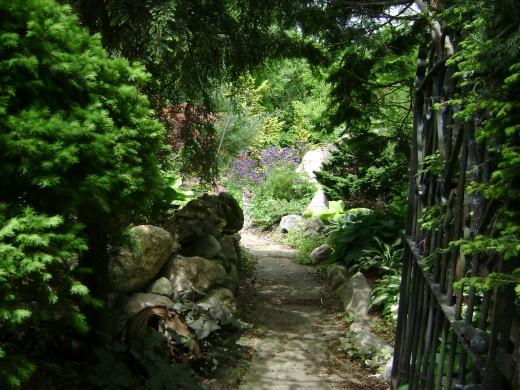Natural Hemlock Arbors One of Three Entrances to the Sun Garden