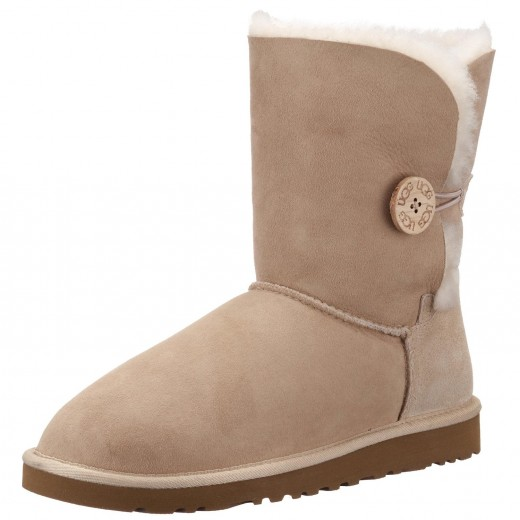 Short Bailey Button UGGS in sand.