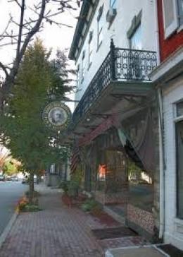 The James Buchanan Hotel in Mercersburg operates in what was Buchanan's boyhood home.