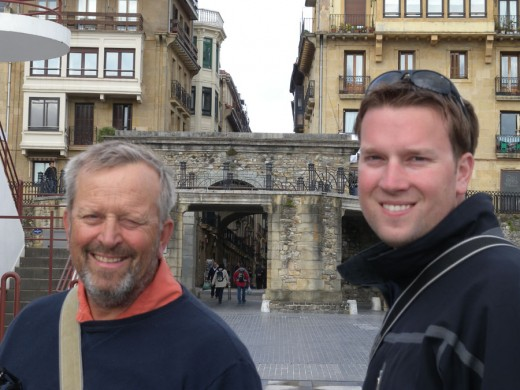 Gary and Garrett exploring San Sebastian, Spain