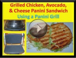 Grilled Chicken, Avocado, & Cheese Panini Sandwich