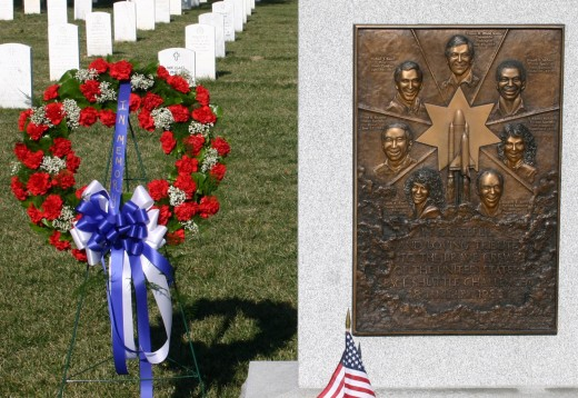 The Space Shuttle Challenger Memorial in Arlington National Cemetery