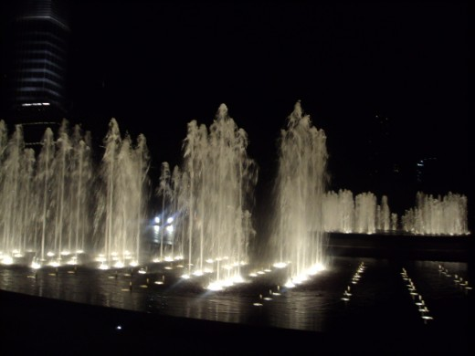 Water Fountain in front of Burj Khalifa