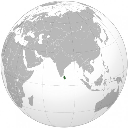 Sri Lanka in the World Map