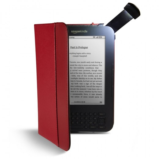 Kindle Leather Lighted Cover | image credit: amazon