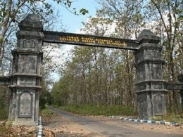 The gate to entrance