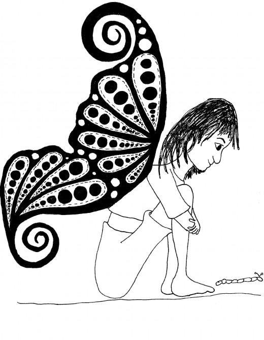Caterpillar  crawl.