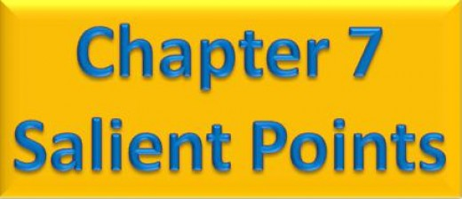 Chapter 7 Salient Points