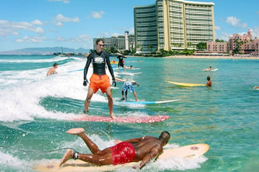 great to surf on Waikiki Beach