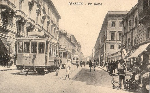 Palermo's genteel Via Roma as the old-timers remembered it.
