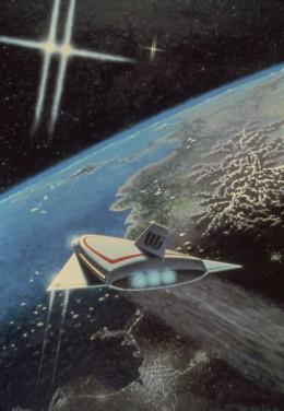 """Approach to Valhalla,"" 24x30"", 1978, acrylic on canvas. Copyright Carl Martin."