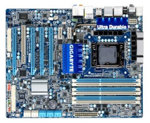 The Gigabyte LGA1366 SATA3 ATI CrossFireX ATX Motherboard GA-X58A-UD3R - My Choice for Best LGA 1366 Socket Gaming Motherboard Under $200.