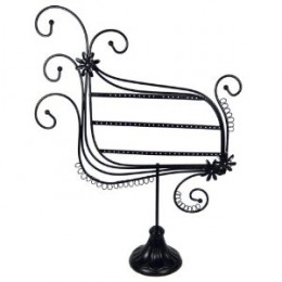 """Earring Display Stand- Trapezoid - Black Metal Wire - 13"""" x 16"""" by EchoMerx"""