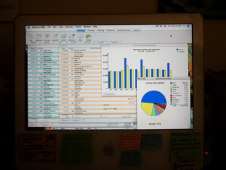 Use a computer accounting system to take control of your finances.