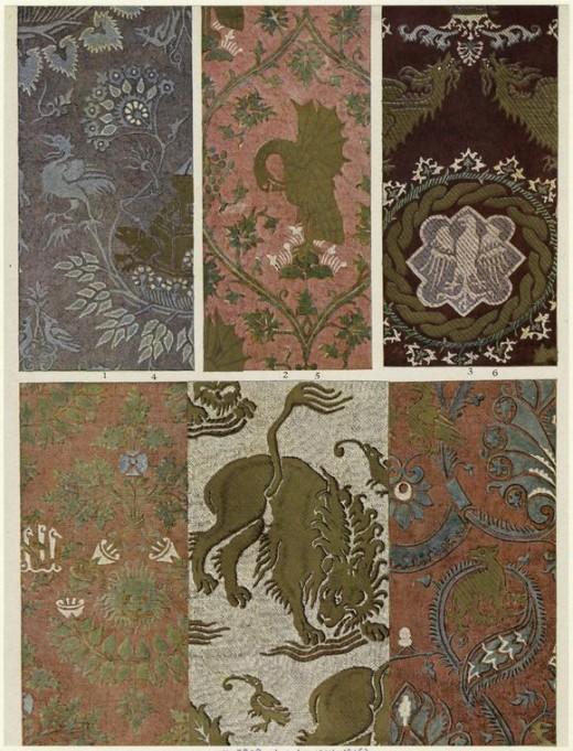 Damask - Italian Silk circa 1300's