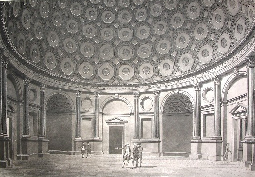 The Four Per Cent Reduced Annuity Office at the Bank of England in London by Thomas Malton, 1791.