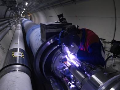 The underground tube at CERN