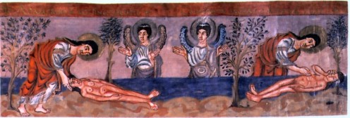 "Creation of ""Adam"" and ""Eve"" from the 9th Century Grandval Bible"