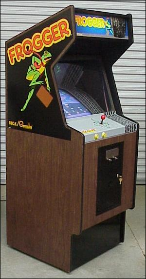 A fine example of the Frogger upright cabinet