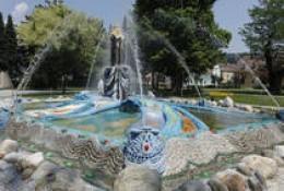 Ernst Fuchs Moses fountain