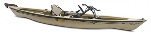 The Native Watercraft pedaling kayak features an innovative propeller drive system.