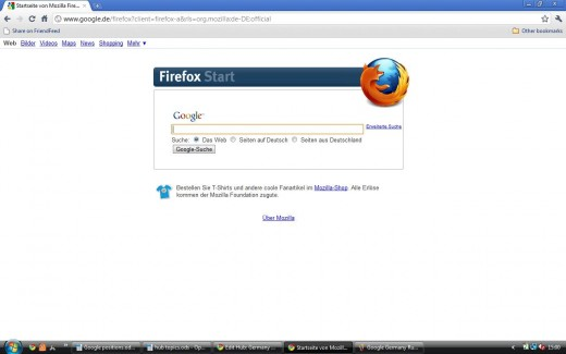 Firefox version of Google Germany in German