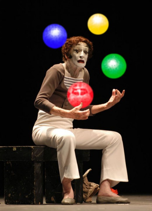 Marcel Mangel (1923- 2007)   French entertainer, the world's most famous mime, better known by his stage name Marcel Marceau