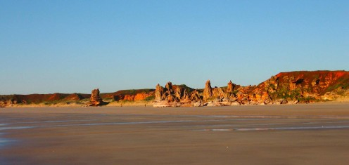 Distant rocky outcrop...