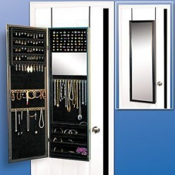 An Over The Door Jewelry Organizer Keeps Your Jewelry in Check