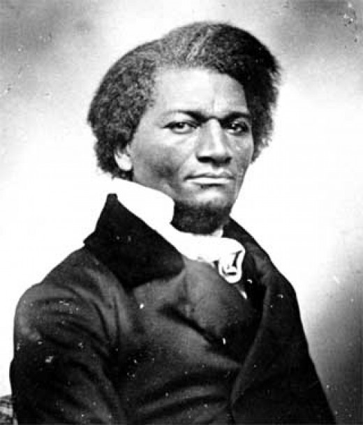 Frederick Douglass as a young man.  Handsome.
