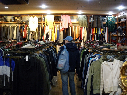 Clearance racks are usually located towards the backs of the departments