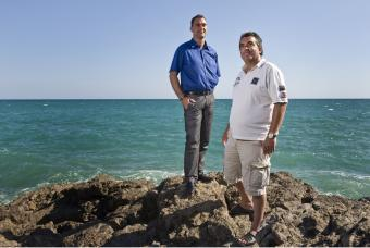 Juan Luis Moreno (left) and Antonio Barroso are victims of illegal adoptions.