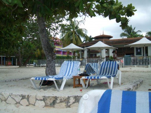 Relax on the beach or in the shade at Coco La Palms