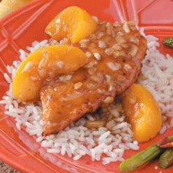 Peachy chicken putting smiles on everyone's face