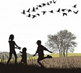 After pigs are exterminated, expect the Angry Birds to turn their talons toward human families frolicking in meadows.