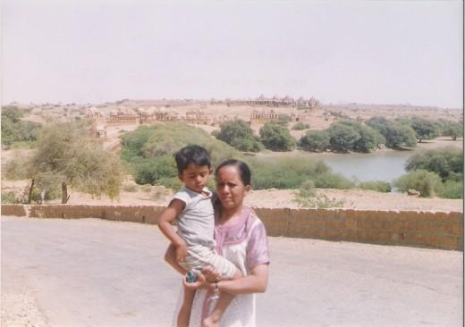 Distant view of Bara bagh-Jaisalmer, Rajasthan