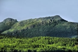 A unique grouping of hills near Roddickton Canada that resemble a sleeping giant.