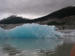 Iceberg floating on the lake