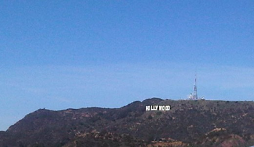 the view of Hollywood sign