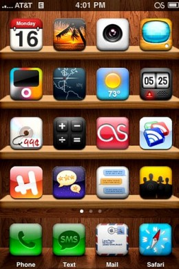 WoodenRealize iPhone Theme